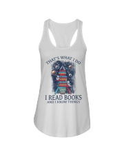 I READ BOOKS AND I KNOW THINGS 2 Ladies Flowy Tank thumbnail