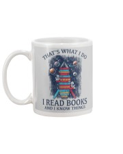 I READ BOOKS AND I KNOW THINGS 2 Mug back