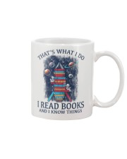 I READ BOOKS AND I KNOW THINGS 2 Mug tile
