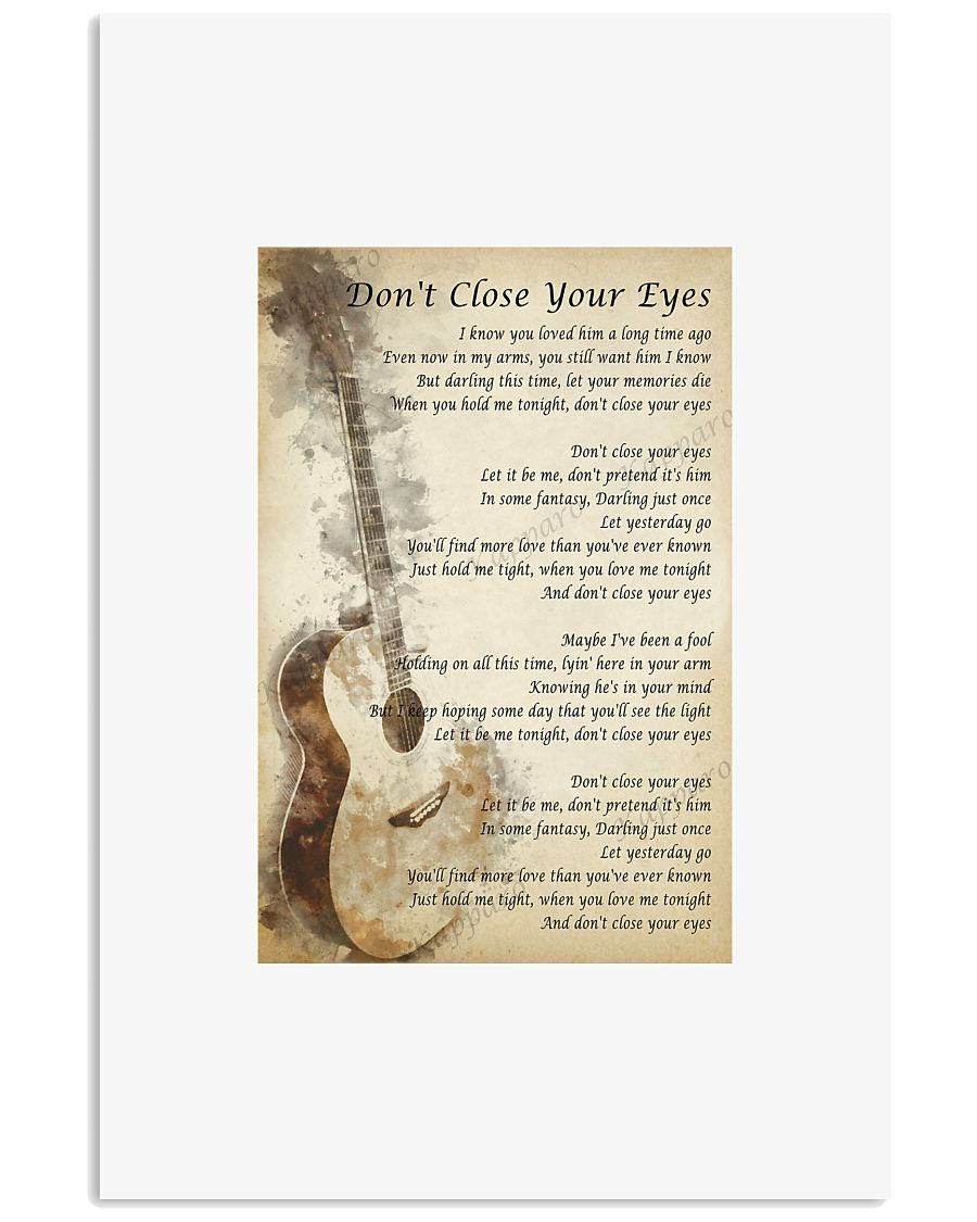 Don't Close Your Eyes - Keith Whitley 11x17 Poster