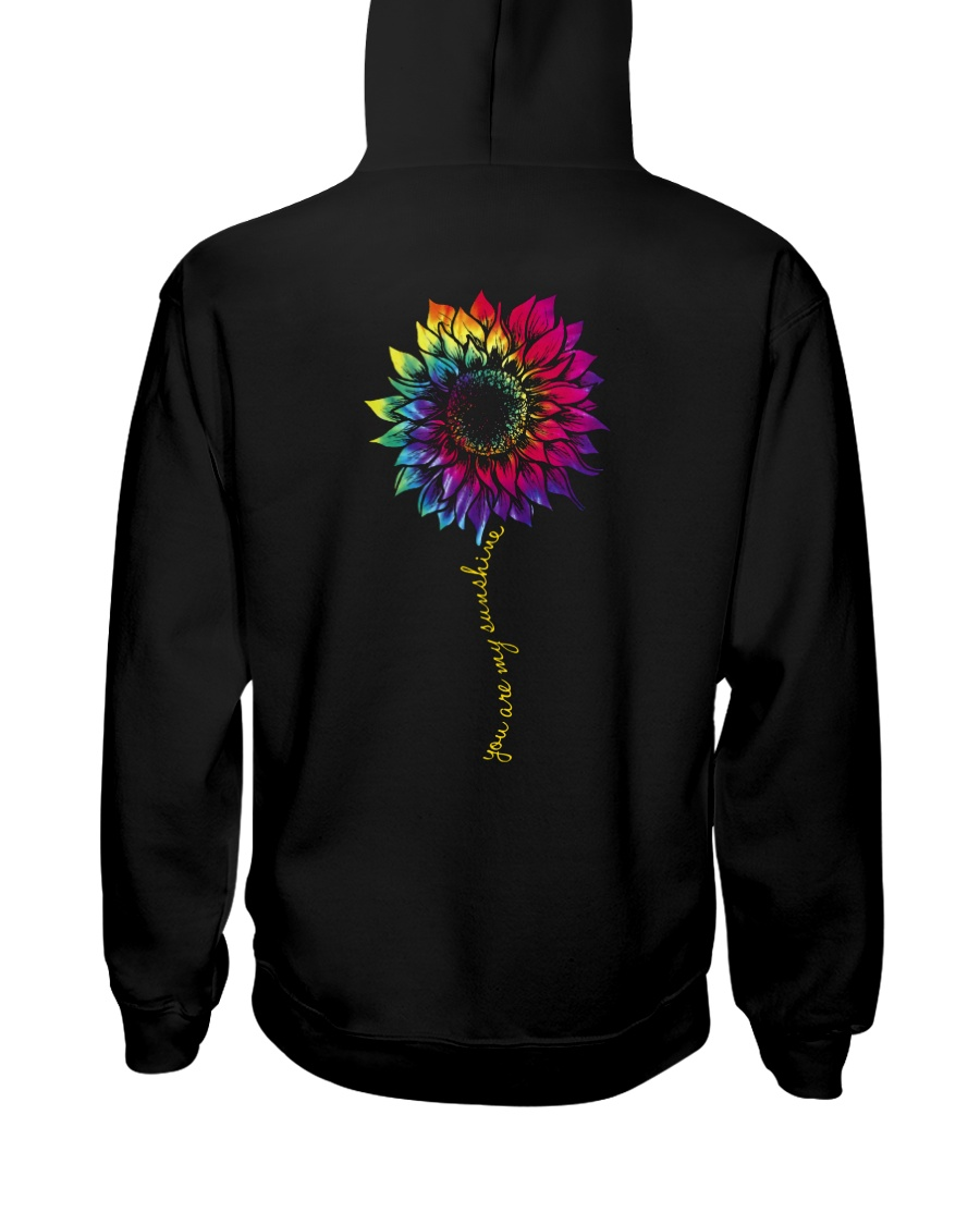 You Are My Sunshine Tie Dye Sunflower Hooded Sweatshirt