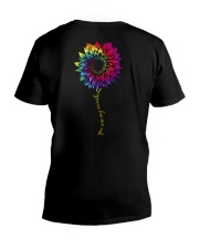 You Are My Sunshine Tie Dye Sunflower V-Neck T-Shirt thumbnail