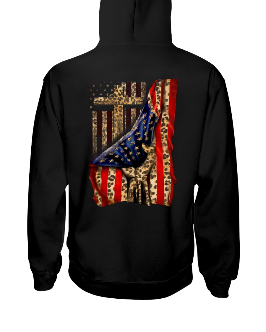 Jesus Cross Flag Hand Hooded Sweatshirt