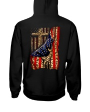 Jesus Cross Flag Hand Hooded Sweatshirt back