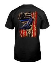 Blue Line Leopard Heart Hand Classic T-Shirt thumbnail