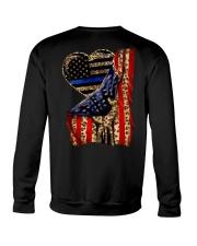 Blue Line Leopard Heart Hand Crewneck Sweatshirt thumbnail
