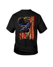 Blue Line Leopard Heart Hand Youth T-Shirt thumbnail