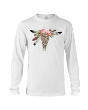 Boho Style Bull Skull in Leopard Print Long Sleeve Tee thumbnail