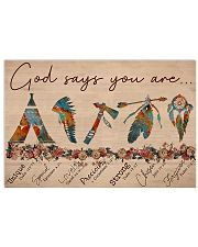 Native God Says You Are 17x11 Poster front