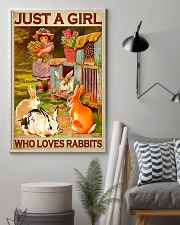 Girl Loves Cute Rabbits 11x17 Poster lifestyle-poster-1