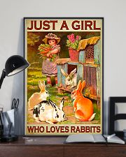 Girl Loves Cute Rabbits 11x17 Poster lifestyle-poster-2