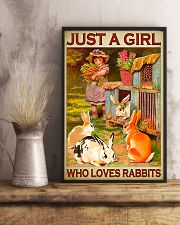 Girl Loves Cute Rabbits 11x17 Poster lifestyle-poster-3