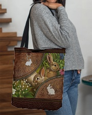 Love Rabbit Animal For Rabbit Lovers All-over Tote aos-all-over-tote-lifestyle-front-09