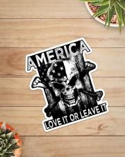 Skull - America Love It Or Leave It Sticker - Single (Vertical) aos-sticker-single-vertical-lifestyle-front-07