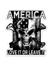 Skull - America Love It Or Leave It Sticker - Single (Vertical) front
