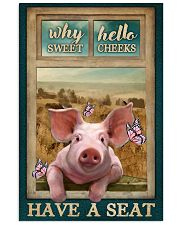Adorable Pig Why Hello Sweet Cheeks 11x17 Poster front