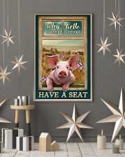 Adorable Pig Why Hello Sweet Cheeks 11x17 Poster lifestyle-holiday-poster-1