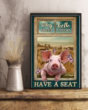 Adorable Pig Why Hello Sweet Cheeks 11x17 Poster lifestyle-poster-3