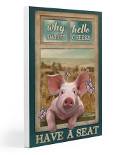 Adorable Pig Why Hello Sweet Cheeks Gallery Wrapped Canvas Prints tile