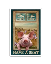 Adorable Pig Why Hello Sweet Cheeks Sticker tile