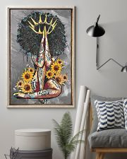 Black Queen With Sunflowers 15 11x17 Poster lifestyle-poster-1