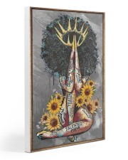 Black Queen With Sunflowers 15 Gallery Wrapped Canvas Prints tile