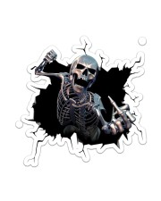 Skull Crack Sticker - Single (Vertical) front