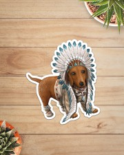 Native Dachshund Sticker - Single (Vertical) aos-sticker-single-vertical-lifestyle-front-07