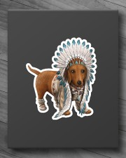 Native Dachshund Sticker - Single (Vertical) aos-sticker-single-vertical-lifestyle-front-10