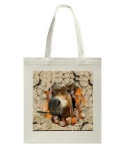 Peeking Funny Horse Tote Bag tile