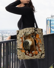 Peeking Funny Horse All-over Tote aos-all-over-tote-lifestyle-front-05