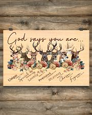 Deer God Says You Are  17x11 Poster poster-landscape-17x11-lifestyle-14
