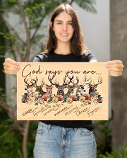 Deer God Says You Are  17x11 Poster poster-landscape-17x11-lifestyle-19