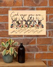 Deer God Says You Are  17x11 Poster poster-landscape-17x11-lifestyle-23