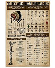 Native American Knowledge 11x17 Poster front