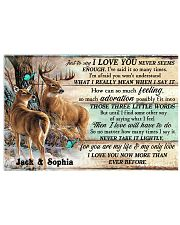Personalized Deer Hunting Couple Pallet I Love You 17x11 Poster front