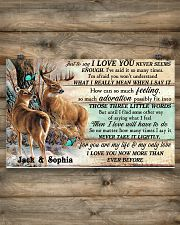 Personalized Deer Hunting Couple Pallet I Love You 17x11 Poster poster-landscape-17x11-lifestyle-14