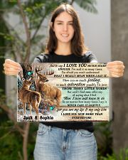 Personalized Deer Hunting Couple Pallet I Love You 17x11 Poster poster-landscape-17x11-lifestyle-19