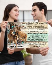 Personalized Deer Hunting Couple Pallet I Love You 17x11 Poster poster-landscape-17x11-lifestyle-20
