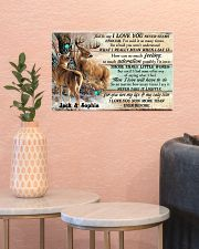 Personalized Deer Hunting Couple Pallet I Love You 17x11 Poster poster-landscape-17x11-lifestyle-21