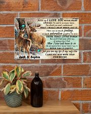 Personalized Deer Hunting Couple Pallet I Love You 17x11 Poster poster-landscape-17x11-lifestyle-23