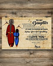 Native To My Daughter Gift For Daughter 17x11 Poster poster-landscape-17x11-lifestyle-14