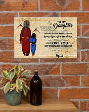 Native To My Daughter Gift For Daughter 17x11 Poster poster-landscape-17x11-lifestyle-23