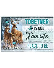 Custom Name Deer Hunting Together Is Our Favorite 17x11 Poster front