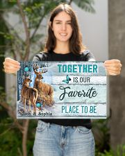 Custom Name Deer Hunting Together Is Our Favorite 17x11 Poster poster-landscape-17x11-lifestyle-19