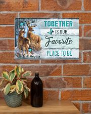 Custom Name Deer Hunting Together Is Our Favorite 17x11 Poster poster-landscape-17x11-lifestyle-23