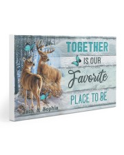Custom Name Deer Hunting Together Is Our Favorite Gallery Wrapped Canvas Prints tile