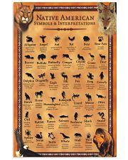 Native American - Symbols And Interpretations 11x17 Poster front