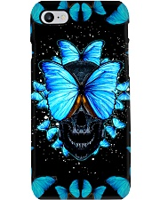 Skull Indigo Butterfly Phone Case Phone Case i-phone-8-case