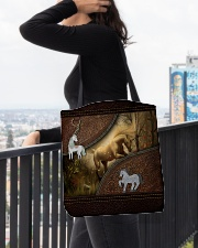 Magical Unicorn For Unicorn Lovers  All-over Tote aos-all-over-tote-lifestyle-front-05
